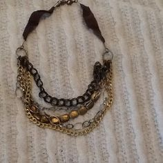 Layered necklace Has gold and silver in it so it matches everything! Jewelry Necklaces