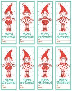 41 Sets of Free Printable Christmas Gift Tags: Allsorts Printable Elfie Gift Tags