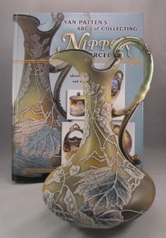 RARE Antique Nippon Moriage Ewer with Praying Mantis Insect Maple Leaf 52 | eBay