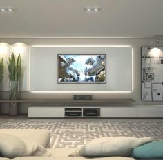 Living room tv wall ideas on living room wall walls ideas entertainment wall on living room . Living Room Tv, Living Room Modern, Apartment Living, Living Room Designs, Tv Wall Ideas Living Room, Modern Tv Room, Bedroom Tv Wall, Cozy Living, Feature Wall Living Room