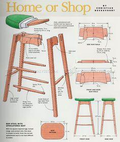 kitchen furniture plans. build kitchen stool furniture plans