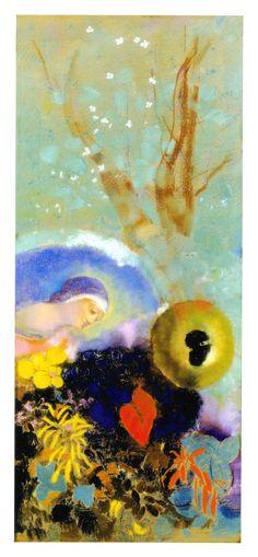 odilon+de+redon | Odilon Redon: Homenaje a Leonardo da Vinci (hacia 1914).