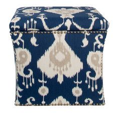 Crossville Nail Button Storage Ottoman Amazing Design