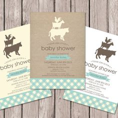 Farm Baby Shower Invitation // Baby Shower by papernoteandco, $15.00