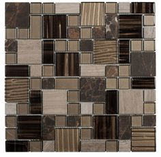 Soft and neutral textured glass with a mix of many different natural stones in an unique flagstone pattern.  MAM193BO