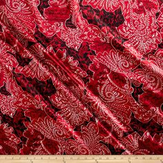 Satin Charmuese Bandana Crimson from @fabricdotcom  This very lightweight and silky soft charmeuse satin fabric has a nice hand and drape. It is appropriate for blouses, lining, dresses and skirts - especially on the bias. It's also perfect for lingerie and binding baby blankets!