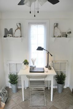 The Grower's Daughter: The Sunroom Makeover - An Office Space
