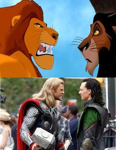 The Similarities Are Uncanny #lol #funny #lionking #theavengers #thor