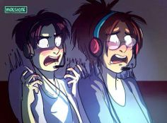 I wonder what they're playing...>>>>> Slenderman? Maybe? ...I don't ship Levi and Hanji but this is hilarious.