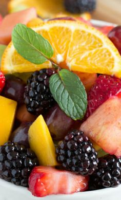 Blackberry Lime Fruit Salad with Orange Zest