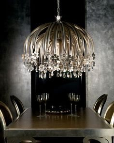 """Shop """"Valencia"""" Chandelier at Horchow, where you'll find new lower shipping on hundreds of home furnishings and gifts. Ceiling Canopy, Ceiling Lamp, Ceiling Lights, Chandelier Pendant Lights, Chandeliers, Shine The Light, Luxury Lighting, Wow Products, Murano Glass"""