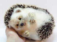 Needle felted hedgehog MADE TO ORDER  Needle von SvetlanaToys
