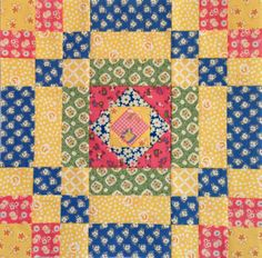 "Pinner said - 3rd block for my ""El's Kitchen"" quilt. Love the block and the colors."
