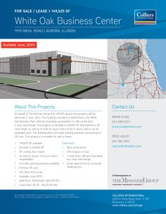 1919 Diehl Road Aurora, IL Size sqft. 20,000-149,525 SF Building Category Industrial Trans. Type Sale, Lease Company  Colliers Internation...