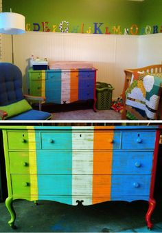 Booth 121 Furniture Stripe Dresser In Nursery Whimsical Happy Modern