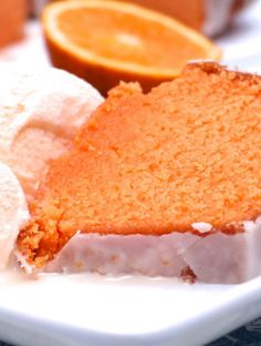 Glazed Orange Dream Pound Cake