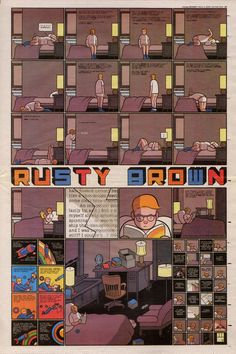 Rusty Brown by Chris Ware Panel sequences that give a feeling of isolation.