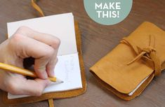How to make a simple #DIY leather journal! Great gift idea, too!