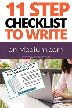 Freelance writers, earn how to get featured in big publications on Medium.com with this checklist! Download for free. #mediumwriter #writing