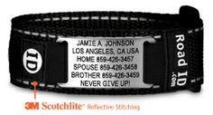 Check out your new training partner! The Wrist ID Sport is durable, comfortable and could even save your life. Wear it running, cycling or swimming. Custom laser engraved and designed by you.