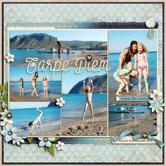 Digital layout using Seize The Day by Amber Shaw at Sweet Shoppe Designs