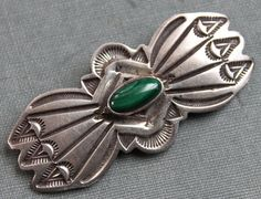 Navajo Malacite and Sterling Hand Stamped by TheHiddenChamber, $88.00