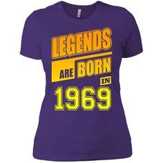 LEGENDS ARE BORN IN 1969 15 NL3900 Next Level Ladies' Boyfriend T-Shirt