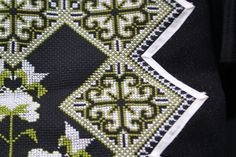 A close-up of Paj Ntaub (Hmong embrodiery). I loved the traditional stitching with the splash of modern. Cross Stitching, Cross Stitch Embroidery, Embroidery Patterns, Sewing Patterns, Needlepoint Stitches, Needlework, Cross Stitch Designs, Cross Stitch Patterns, Beaded Crafts