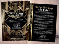 Murder Mystery Dinner Party Invitation, Vintage Party Invitation, Printable Birthday Invite, Great Gatsby, Hollywood glam, by LyonsPrints on Etsy https://www.etsy.com/listing/483555626/murder-mystery-dinner-party-invitation