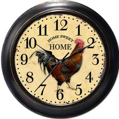 "You'll love the Decorative Home 18"" Classic Rooster Wall Clock at Wayfair - Great Deals on all Décor  products with Free Shipping on most stuff, even the big stuff."