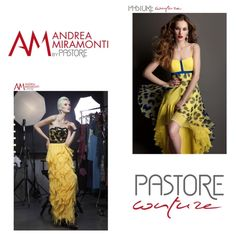 Yellow Cocktail and Evening Dresses  - Pastore Bridal - Pastore Couture - Andrea Miramonti by Pastore #reddress #couture #fashion #couturedress #cocktaildress #partydress #eveningdress www.pastore.it