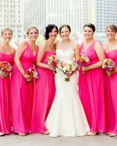 Christina And Jimmy's Modern Chicago Wedding - Pretty in Pink