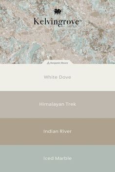 Need help pairing the perfect paints with your countertop? A one-of-a-kind quartz countertop design, Kelvingrove features tones of beige, cream, and robin's egg blue. Bathroom or kitchen countertops in this design pair well with blue-gray and greige paint