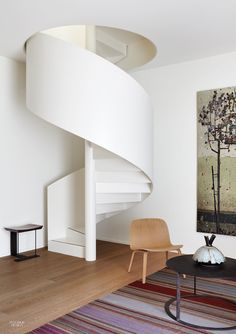 Ali Tayar's Penultimate Project Epitomizes His Rational Yet Utterly Humanistic Vision Spiral Stairs Design, Staircase Design, Spiral Staircase, Staircases, Interior Stairs, Interior Architecture, Escalier Art, Piece A Vivre, Interior Design Magazine