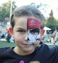 face paint half face pirate - Google Search