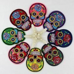 Skull Gothic Punk Sew Embroidery Iron On Patch Badge Embroidered Cloth Applique in Collectables, Badges/Patches, Patches   eBay