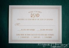Sweet Letter Press Wedding Suite RSVP Card #WouldYouKindlyWed – Elizabeth Williamsburg Photography – Williamsberg Photography