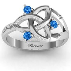 I really want this ring!!  Its inscribed, Husband, Wife and God Forever.  Siobhán Celtic Knot Ring