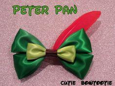 Peter Pan hair bow Disney Inspired by bulldogsenior08 on Etsy, $8.00