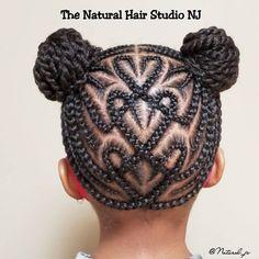 Natural Cornrow Hairstyles, Black Kids Braids Hairstyles, Little Girls Natural Hairstyles, Lil Girl Hairstyles, Natural Hair Braids, Braids For Black Hair, Natural Hair Styles, Little Girl Braid Styles, Kid Braid Styles