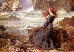 John William Waterhouse - 1916, Miranda - The Tempest.