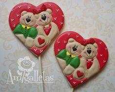 Teddy Bears (Heart Cookie Cutter)