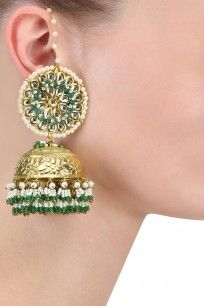 643593134 Designer Jewellery   Buy Fashion Jewellery Online at Pernia s Pop Up Shop.  Jhumki EarringsGold ...