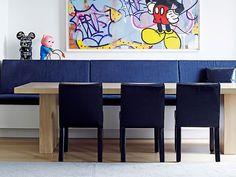 Sala de jantar com banco Designer: Piet Boon