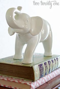 decorative happy white elephant