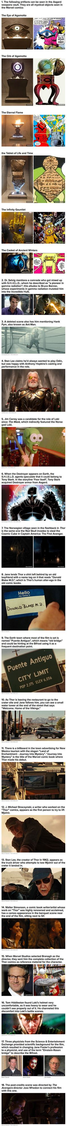 Thor fun facts. The look of disgust you have when reading number 5. There is one Loki!