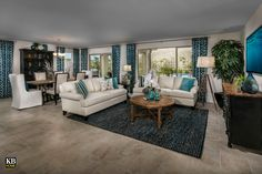 New Homes in Surprise, AZ - Villas at Sycamore Farms Plan 2270 Great Room Build Your Dream Home, My Dream Home, Affordable Furniture, Outdoor Furniture Sets, Sycamore Farms, Arizona, Living Dining Combo, Farm Plans, Kb Homes