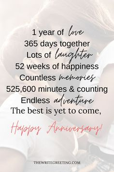 Happy 1 Year Anniversary Letter For Her (Paragraphs & Long Messages For Girlfriend)