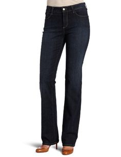 NYDJ Womens Marilyn Straight Button Closure Jeans Oak Meadow 2 >>> More info could be found at the image url. (This is an affiliate link) Business Casual Jeans, Denim Jeans, Black Jeans, Fashion Outfits, Womens Fashion, Jeans Style, My Style, Jeans Women, How To Wear