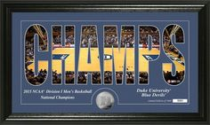 Duke University 2015 NCAA Basketball National Champions and Coin